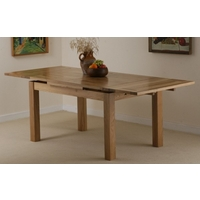 Image of: Solid Oak Extending Dining Table 4ft 7 x 3ft, Seats up to 8 people Extended - Solid Oak