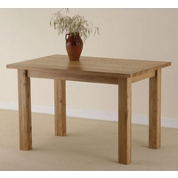 Image of: Solid Oak Dining Table 4ft x 2ft 8 - Oak Dining Tables