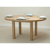 Image of: Solid Oak Round Extending Dining Table 5ft 3 - Oak Tables