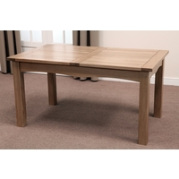 Image of: Cairo Solid Oak Extending Dining Table 5ft x 3ft - Dining Table