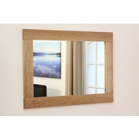 Image of: Contemporary Mirror with Solid Oak Frame - 750mm x 1100mm