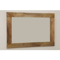 Image of: Mirror with Solid Light Mango Frame - 750mm x 1100mm - Wooden Mirrors