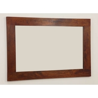 Image of: Mirror with Teak Oiled Solid Mango Frame - 750mm x 1100mm - Wooden Mirrors