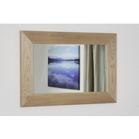 Image of: Cosmopolitan Mirror with Solid Oak Frame - 900mm x 600mm