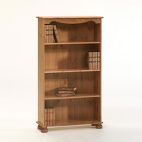 Image of: Aarhus Bookcase with 3 Shelves - Solid Pine Bookcase - Bookcases
