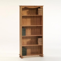 Image of: Aarhus Bookcase with 4 Shelves - Scandinavian Pine Bookcase - Bookcases
