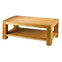 Image of: Acadia Solid Oak Rectangular Coffee Table Furniture