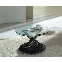 Image of: Acai Glass Extending Coffee Table in Black - Coffee Tables