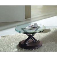 Image of: Acai Glass Extending Coffee Table in Brown - Coffee Tables