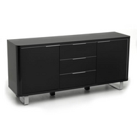 Image of: Accent High Gloss Sideboard Black - Sideboards