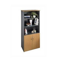 Image of: Bookcase - Access Large 3 Shelf 2 Door Bookcase - Bookcases