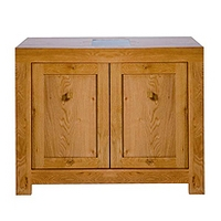 Image of: Acre Oak 2 Door Sideboard Furniture - Sideboards