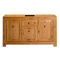 Image of: Acre Oak 3 Door 1 Drawer Sideboard - Sideboards