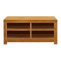 Image of: Acre Oak Rectangular Shelved Coffee Table Furniture