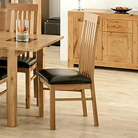 Image of: Acre Oak Slat Back Dining Chair - Dining Chairs