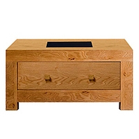 Image of: Acre Oak Square Storage Coffee Table - Coffee Tables