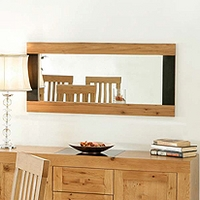 Image of: Acre Oak Wall Mirror - Oak Mirrors
