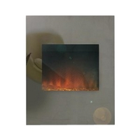 Image of: Adam Alexis Tinted Mirror Electric Fire - Fire Mirrors