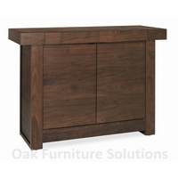 Image of: Akita Walnut Narrow Sideboard Furniture - Sideboards