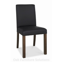 Image of: Akita Walnut Square Back Brown Dining Chairs - Pair of Dining Chairs