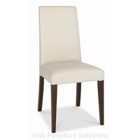 Image of: Akita Walnut Tapered Back Ivory Dining Chairs - Pair Of Dining Chairs