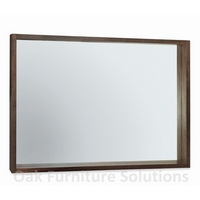 Image of: Akita Walnut Wall Mirror - Walnut Mirrors