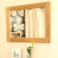 Image of: Aldan Solid Oak Wall Mirror - Oak Mirrors