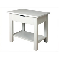 Image of: Alder Bedside Table White Small Single - Bedside Tables and Drawers