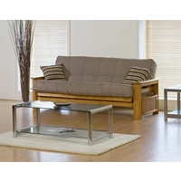 Image of: Alissa Cream 3 Seater Futon - Futon Beds