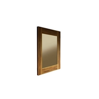 Image of: Allure Walnut Wall Hanging Mirror - Wall Mirrors