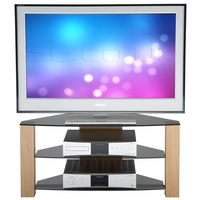 Image of: TV Stand - Alphason Ancora Light Oak LED and LCD TV Stand ANCC950/3-LO - TV Cabinets