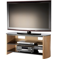 Image of: Alphason FW1100-LO/B - Finewoods Light Oak LED and LCD TV Stand - TV Cabinets