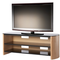 Image of: Alphason FW1350-LO/B - Finewoods Light Oak LED and LCD TV Stand - TV Cabinets