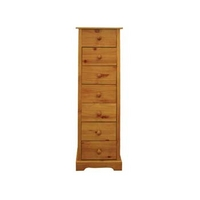 Image of: Alpina 7 Drawer Narrow Chest - Chest Of Drawers