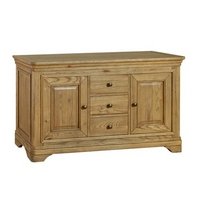 Image of: Alsace Oak Large Sideboard Furniture - Sideboards