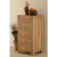 Image of: Alto Solid Oak 5 Drawer Tall Chest - Chest Of Drawers
