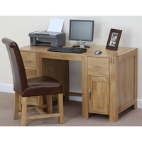 Image of: Alto Solid Oak Computer Desk - Sold Oak Desk