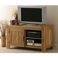 Image of: Alto Solid Oak TV + DVD Cabinet - Oak TV Cabinets