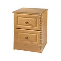 Image of: Amelie 2 Drawer Bedside Table in Beech - Bedside Tables and Drawers