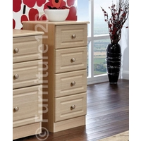 Image of: Amelie 4 Drawer Narrow Chest in Light Oak - Chest Of Drawers