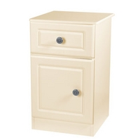 Image of: Amelie Cream 1 Door 1 Drawer Bedside Table - Bedside Tables and Drawers