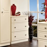 Image of: Amelie Cream Deep 3 Drawer Chest - Chest Of Drawers