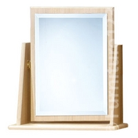 Image of: Amelie Single Vanity Mirror in Light Oak - Oak Mirrors