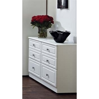 Image of: Amelie White 3+3 Drawer Chest - Chest Of Drawers