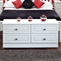 Image of: Amelie White Wide 4 Drawer Chest - Chest Of Drawers
