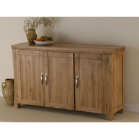 Image of: Andorra Solid Oak Large Sideboard Furniture - Sideboards