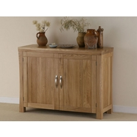 Image of: Andorra Solid Oak Medium Sideboard Furniture - Sideboards