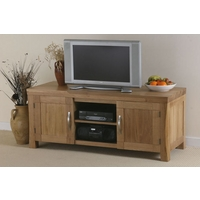 Image of: Andorra Solid Oak Widescreen TV + DVD Cabinet - Oak TV Cabinets