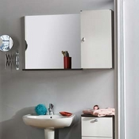 Image of: Anton Wall Mounted Bathroom Cabinet and Mirror - Mirrors