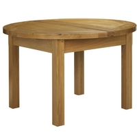 Image of: John Lewis - Ardennes Round Extending Dining Table - Sarlat - W120-160cm - Dining Tables